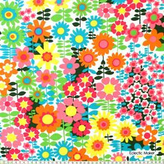 Michael Miller Fabric Pop Garden in Multi for patchwork quilting and dressmaking from Eclectic Maker