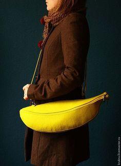 Женские сумки ручной работы. Банановая Кожура. KrukruStudio. Ярмарка Мастеров. Яркая, вегетарианцу, позитив, фурнитура