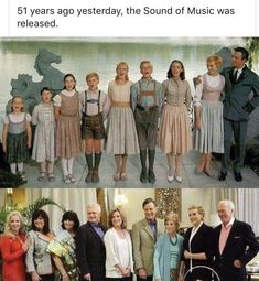 The reunion of The Sound of Music family after 45 years. Why is it that Julie Andrews looks better than some of the kids? ^Because Julie Andrews is a time lord. Films Cinema, Cinema Tv, Julie Andrews, Movies Showing, Movies And Tv Shows, Sound Of Music Family, Sound Of Music Quotes, Sound Of Music Movie, Music Film