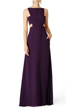 Rent Elderberry Side Cut Out Gown by Jill Jill Stuart for $55 - $75 only at Rent the Runway.