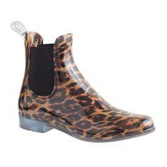 leopard rain boots - too cute!