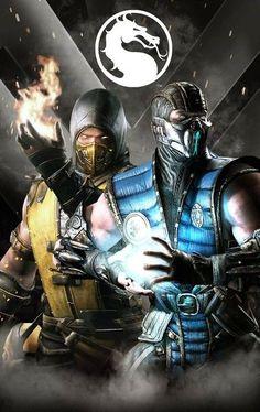 Scorpion & Sub-Zero-mortal kombat Mortal Kombat Tattoo, Mortal Kombat X Scorpion, Mortal Kombat Xl, Mortal Kombat X Wallpapers, Claude Van Damme, Pawer Rangers, Mileena, Ninja, King Of Fighters