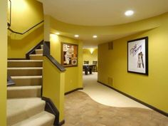 yellow basement paint color ideas