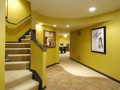 yellow basement paint color ideas