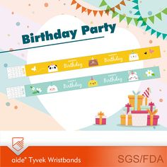 DIY Personalized Party Event Wristbands #birth #birthdayparty #diy