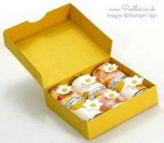 Hershey Nugget Box Tutorial using Stampin' Up! Supplies Open