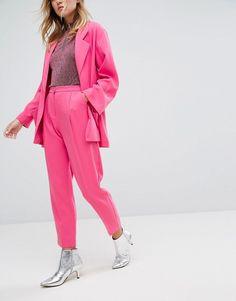 Pink Slim Peg Pants