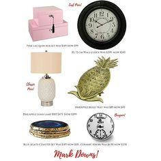 Hamptons House, The Hamptons, Agate Coasters, Coaster Set, Clock, Glass, Pink, Furniture, Watch