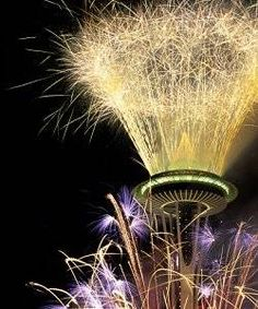 New York can have its Times Square ball drop. We usher in the new year with a little fireworks show at the Space Needle, the world's largest Roman candle.
