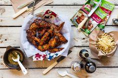 Alitas de pollo al horno, bolsa para horno knorr