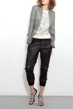 Love these leather sweats from Sachin + Babi!