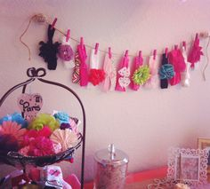 Headband display idea (laid out in a decorative frame with many rows)