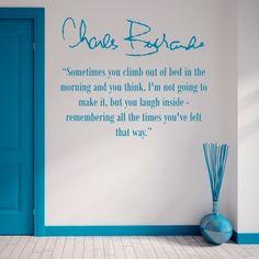 """Adesivo Murale - Charles Bukowski.  Adesivo murale di alta qualità con pellicola opaca di facile installazione. Lo sticker si può applicare su qualsiasi superficie liscia: muro, vetro, legno e plastica.  L'adesivo murale """"Charles Bukowski"""" è ideale per decorare la vostra camera da letto. Adesivi Murali."""
