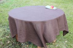 100% Linen Tablecloth Natural Organic Eco Flax by LinenCloud