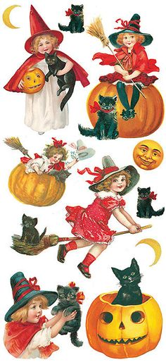 Self Adhesive Halloween Stickers 1 Sheet Colorful Scrapbooking Stickers Number…