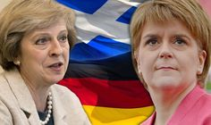 Nicola Sturgeon refused to fly the Union flag but flew the German flag