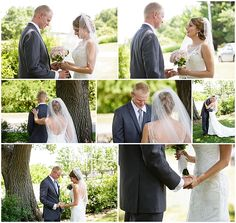 We love all the emotions during the First Look, it's such a sweet moment. Iowa Wedding Photography | CTW Photography