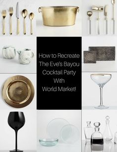 WorldMarket-BlackSouthernBelle-1 How to Recreate The Eve's Bayou Cocktail Party With Cost Plus World Market