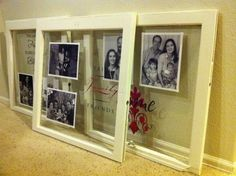 Ideas Using Old Paned Windows | ... : Heirloom Family Portrait Window Panes: Round 3 of American Crafter