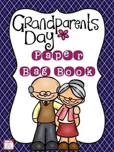 Grandparents Day Paper Bag Book Grandparents Day is September Help your students to make this sweet paper bag memory book that they could give as a gift to a special grandma or grandpa. The kit includes: Directions Pictures of t Grandparents Day Activities, Grandparents Day Cards, National Grandparents Day, Craft Activities, Preschool Crafts, Fun Crafts, Paper Bag Books, Baby Footprint Art, Birthday Gifts For Grandma