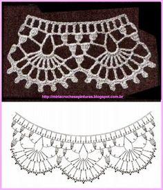 Captivating Crochet a Bodycon Dress Top Ideas. Dazzling Crochet a Bodycon Dress Top Ideas. Crochet Diy, Filet Crochet, Col Crochet, Beau Crochet, Crochet Stitches, Crochet Collar Pattern, Crochet Lace Collar, Crochet Lace Edging, Crochet Diagram