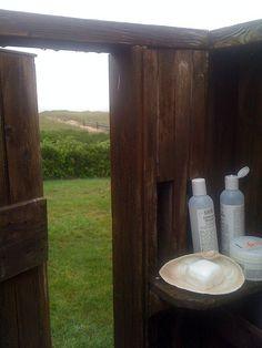 outdoor shower and kiehls.