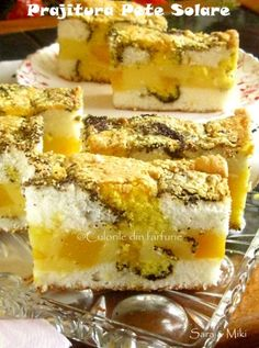 prajitura-pete-solare-1 Romanian Desserts, Romanian Food, Romanian Recipes, Cake Recipes, Dessert Recipes, Good Food, Yummy Food, Sweet Pastries, Pastry Cake