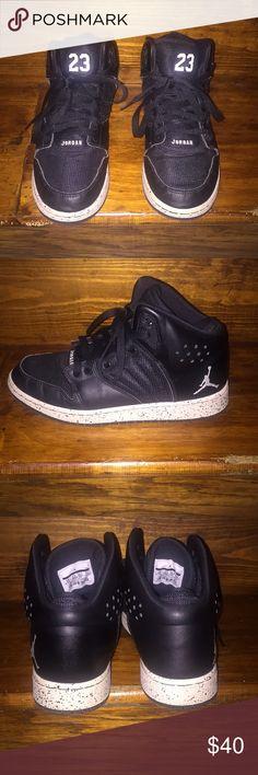 1e0d4607547 Black Jordans High top Nike Jordans w  oreo pattern on midsole Air Jordan  Shoes Sneakers
