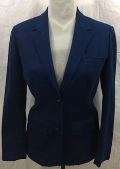 Reasonable Worthington Womens Dark Navy 100% Polyester Zipper Front Blazer Jacket Size 8p Clothing, Shoes, Accessories