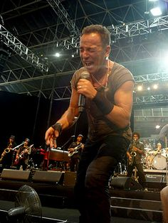 Bruce, last night, performing for the first time in South Africa. Backstreets.com: Springsteen News
