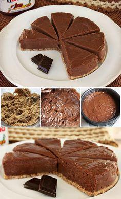 Tarta de queso y Nutella / http://cocinandoenmarte.blogspot.com.es/