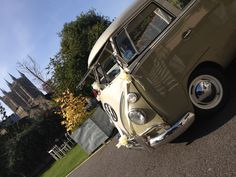 VDub Vintage outside The Lincoln Hotel with Cathedral views. http://vdubvintage.co.uk/weddings #VW #Vintage #Weddings #Lincoln #BailgateWed