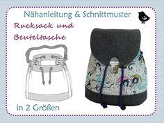Taschen - Nähanleitung, ebook, Rucksack oder Beutel - ein Designerstück von kleinerspatz bei DaWanda