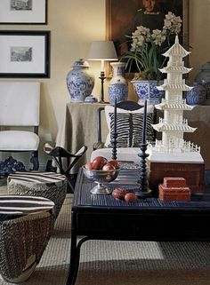 Artful objects | Chinoiserie | More here: http://mylusciouslife.com/photo-galleries/a-colourful-life-colours-patterns-and-textiles/