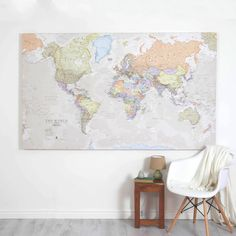 Giant Canvas World Map Canvases Living Rooms And Wall Maps - Oversized world map canvas