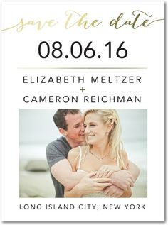 Elegant Exchange - Signature Foil Save the Dates in White