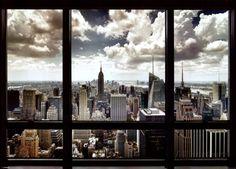 オールポスターズの「New York City Window」高画質プリント