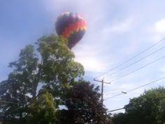 Hot air balloon over our neighborhood Video - Splash