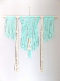 Macrame Wall Hanging Spirited Away. Macrame Wall Hanging Diy, Macrame Art, Macrame Projects, Micro Macrame, Crafty Projects, Gypsy Home Decor, Rope Art, Weaving Art, Handmade Crafts