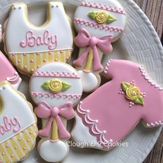 Celebrating a baby girl!  #cloughd9cookies  #customcookies #babyshower