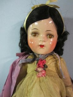"18"" Snow White Composition Doll by Madame Alexander"