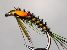 Nice nymph pattern with a quill body with peacock quill rib.