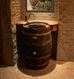 Rustic bathroom.