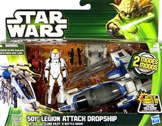 "501st Legion Attack Dropship mit Clone Pilot und Battle Droid ""Fahrzeug & Figur Set"" - Star Wars The Clone Wars von Hasbro Hasbro http://www.amazon.de/dp/B00E971ATK/ref=cm_sw_r_pi_dp_mtpyub1VQQP3P"