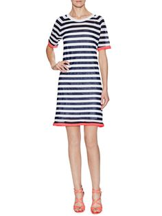 Contrast Stripe T-Shirt Dress from Dress Shop: Everyday Dresses on Gilt