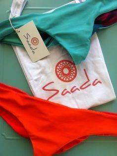 "SAADA ""bird of paradise"" bikini's! The peacock and Sunconure, designed by me and the SAADA team. www.saada.com.au #bikini #summer # reversible #peacock # sunconure #uniquedesign"