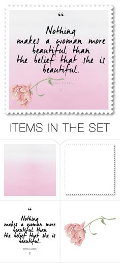 """""""You are beautiful."""" by missaila ❤ liked on Polyvore featuring art"""
