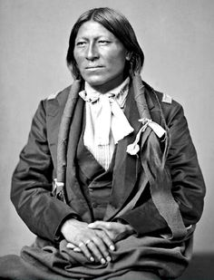 Cheyenne medicine man, Bah-Ta-Che in partial native dress and Military Coat. Sadly no date for photograph. - National Anthropological Archives, Smithsonian Institution.