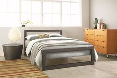 Perspective Bed in Natural Steel   Room & Board $799