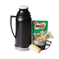 Winter Warmer Hamper.     Contains:     BW0041 - 1 Liter Plastic Vacuum Flask     2 x Individually Wrapped Ouma Rusks     Milo Sachet     Packaged in Cellophane